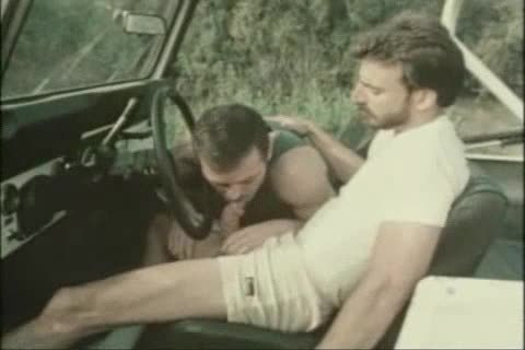 Vintage oral-sex In A Car