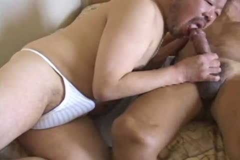 oriental daddy lad Has His biggest dong Sucked By palatable Daddy Bear