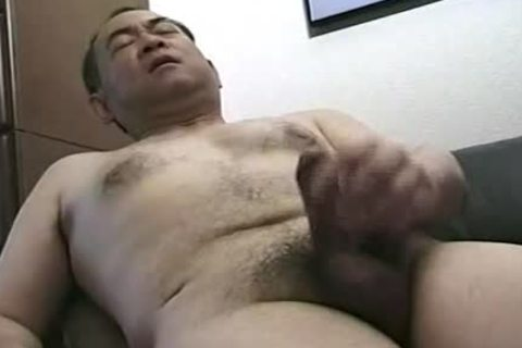 kinky Looking handsome Japanese Daddy Single Action.  Jack Off