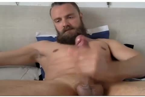 gorgeous man With A Beard Beats His meat