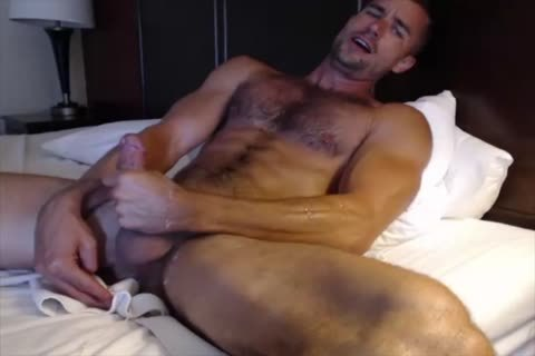 Dilf With Vibrating dildo On web camera