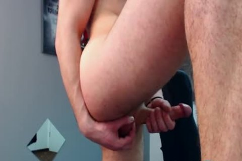 Flirt4Free Model Bruce Larsen - large Dicked fellow widens His butthole And Jerks A large Load Off